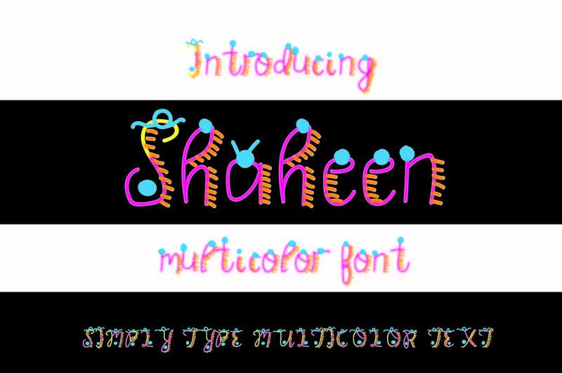 shaheen-multicolor-font