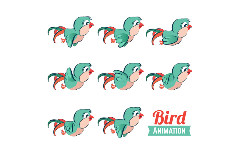 key-frames-animation-of-bird-flying