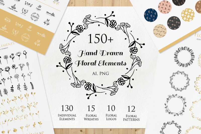 hand-drawn-floral-elements