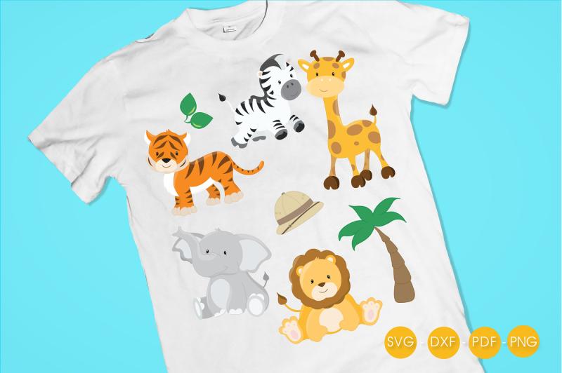 safari-animals-svg-png-eps-dxf-cut-file