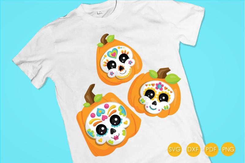 sugar-skull-pumpkins-svg-png-eps-dxf-cut-file
