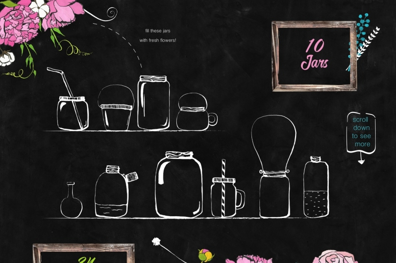 flowers-and-jars-clipart-collection