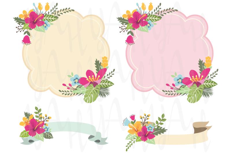 aloha-floral-frame-set