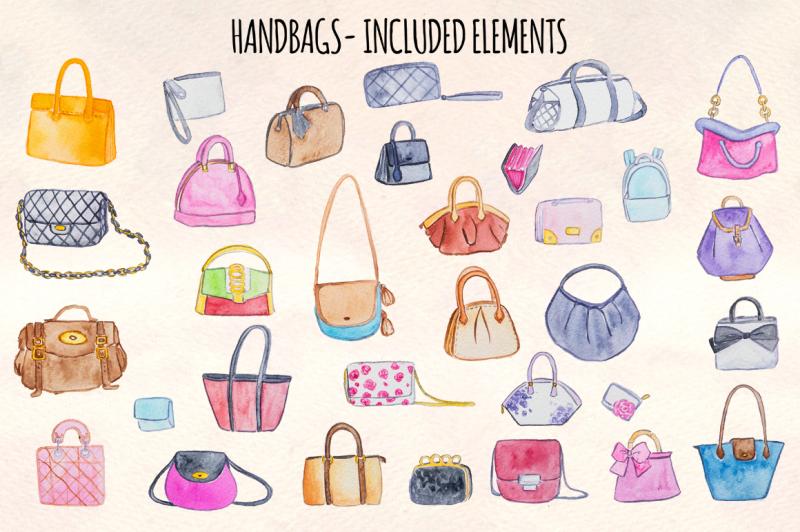 32-womens-handbags-purses-watercolor-vector-graphics