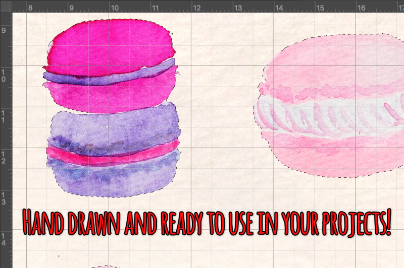35-pretty-french-macarons-watercolor-vector-kit