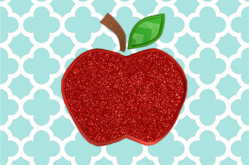 apple-with-leaf-applique-embroidery