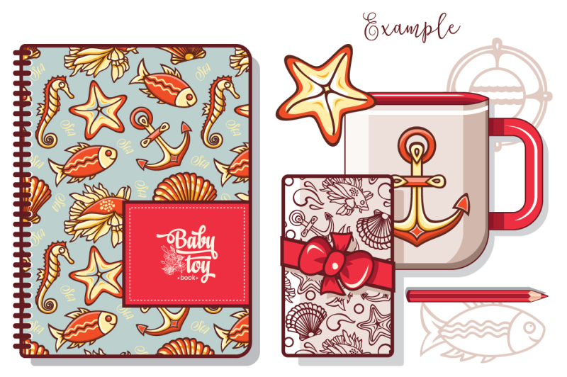 sea-life-seamless-pattern-and-elements-nbsp-maritime-icon-nbsp