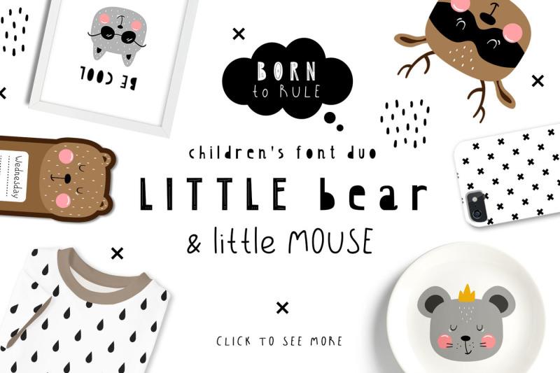 littlebear-and-littlemouse-font-duo