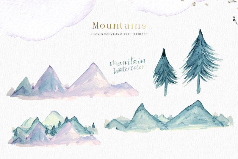 a-mountain-summer-watercolor-set