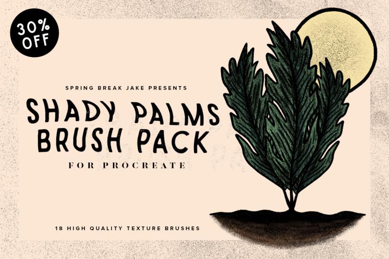 shady-palms-tropical-procreate-texture-brush-pack