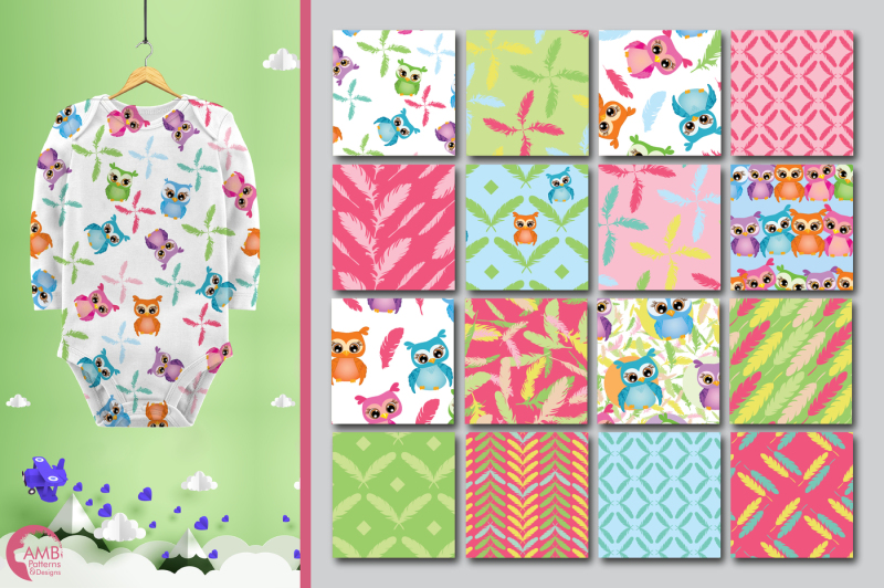 bright-owls-surface-patterns-feather-and-owl-papers-amb-453