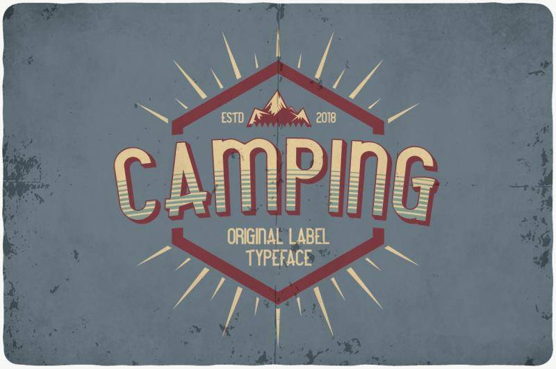 camping-typeface