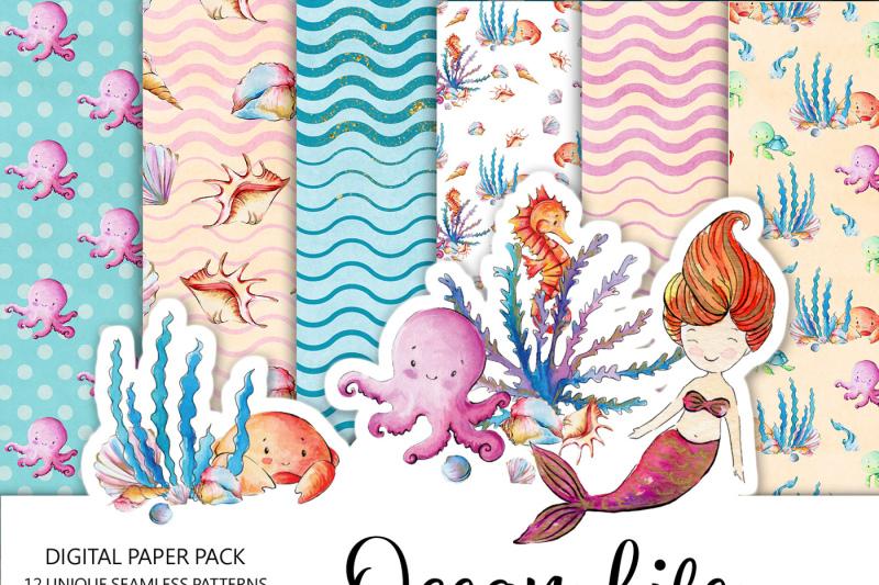 ocean-life-digital-paper