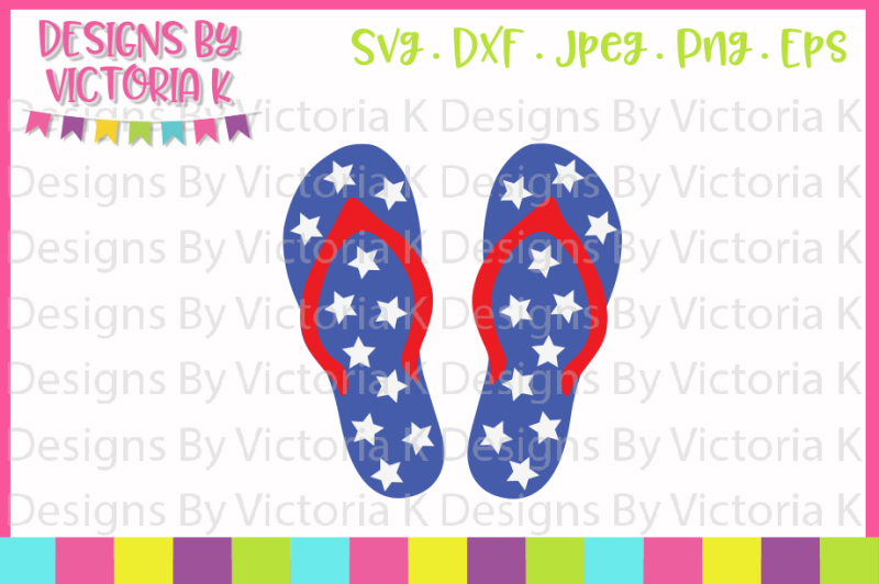4th-july-star-flip-flops-svg-dxf-png-eps