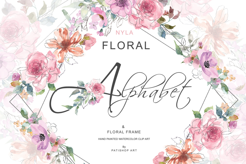 sketch-style-pink-blush-floral-alphabet-and-floral-geometric-frame