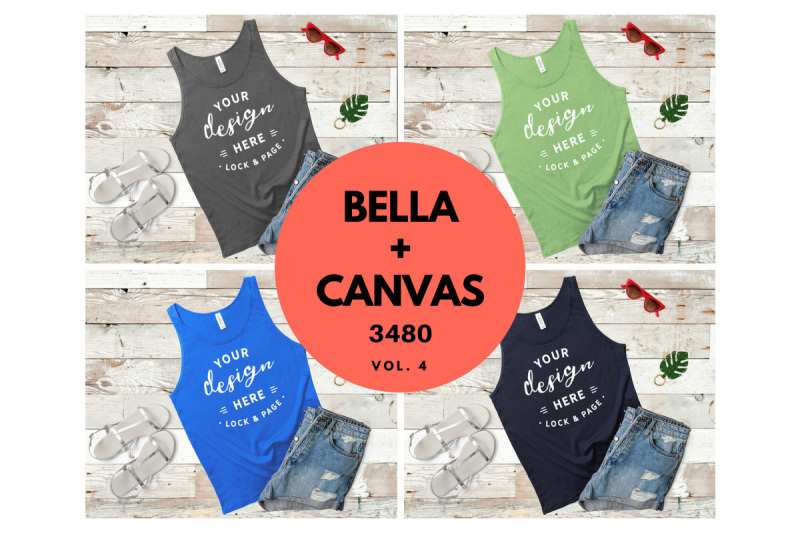 bohemian-bella-canvas-3480-tank-top-vest-mockup-flat-lay-vol-4