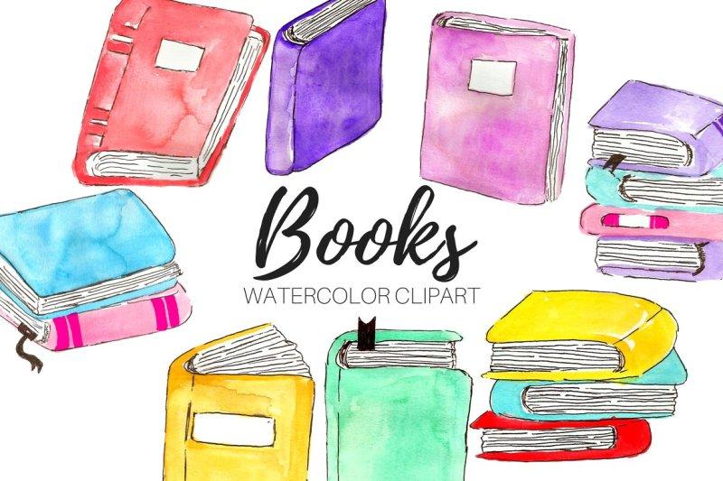 watercolor-book-clipart