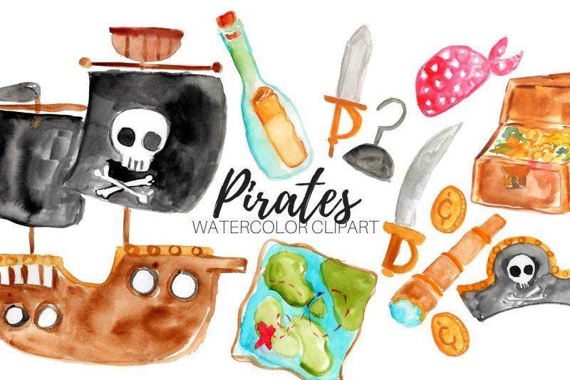 watercolor-nautical-pirate-clipart