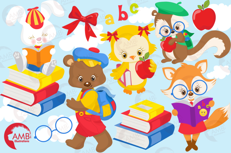 school-time-cliparts-forest-animal-cliparts-amb-1407