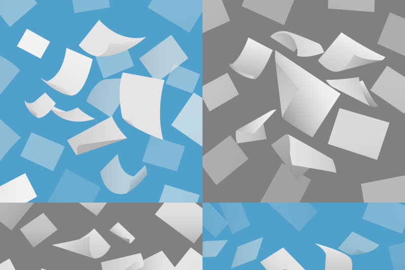 flying-blank-paper-sheets-vector-set