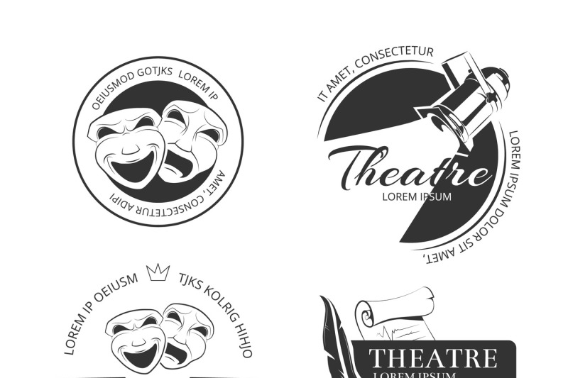 vintage-vector-theatre-labels-emblems-badges-and-logo