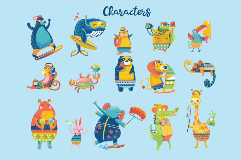 i-love-summer-animal-collection