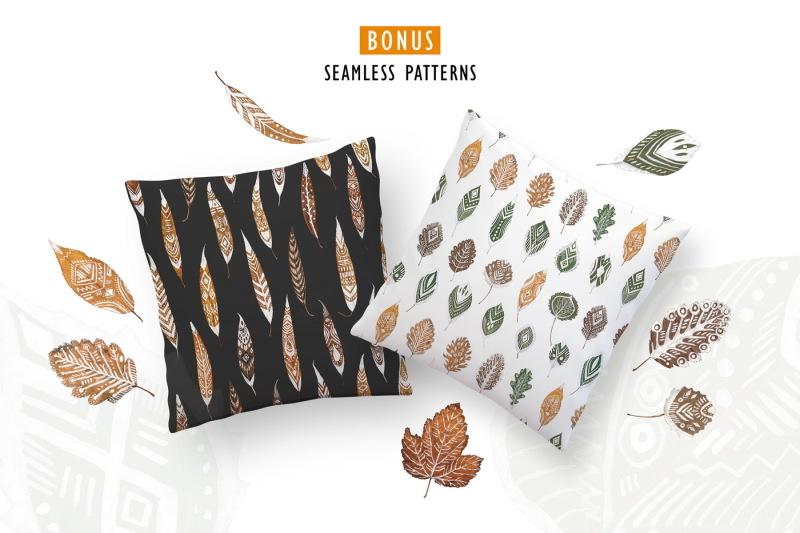 patterned-leaves-landart-collection