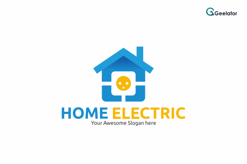 home-electric-logo-template
