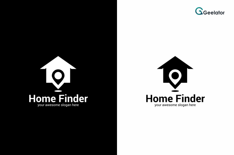 home-finder-logo-template