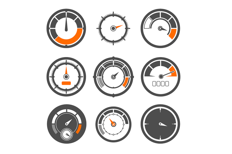 vector-illustrations-set-of-different-speedometers