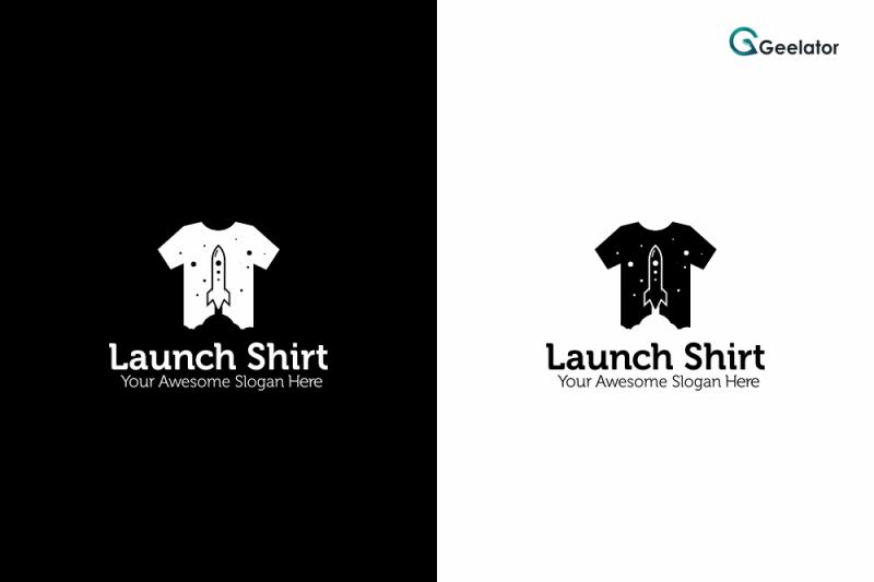 launch-shirt-logo-template