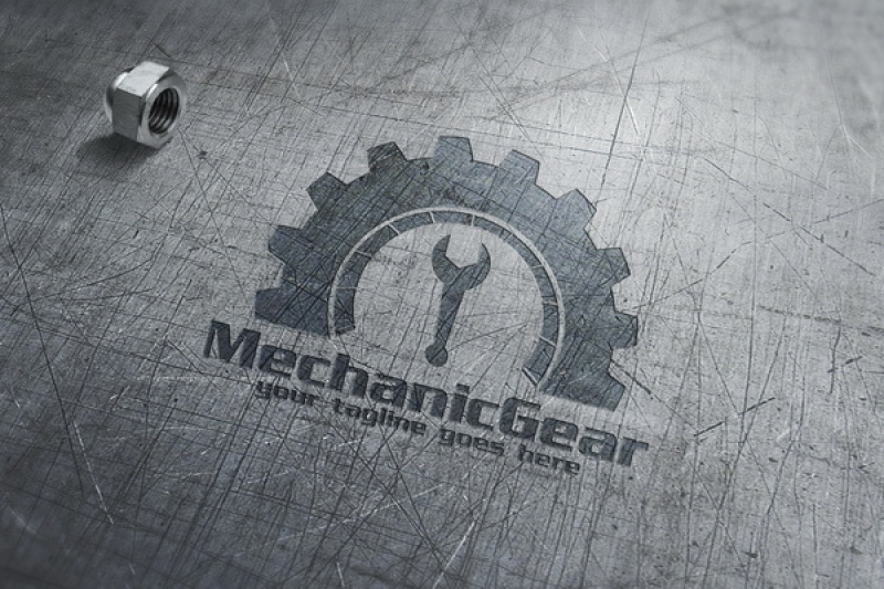 mechanic-gear-logo-template