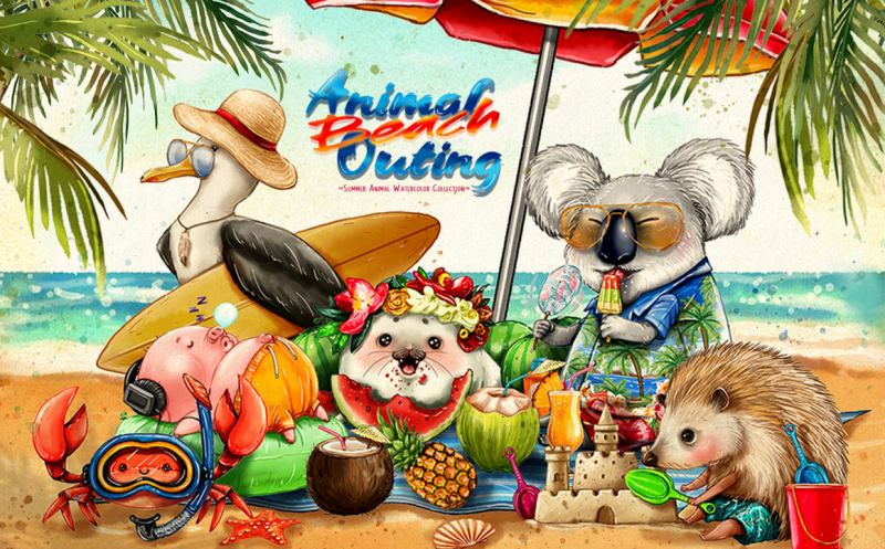 animal-beach-outing