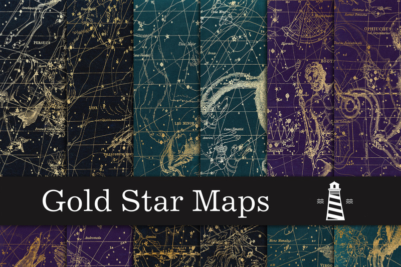 gold-star-map-backgrounds