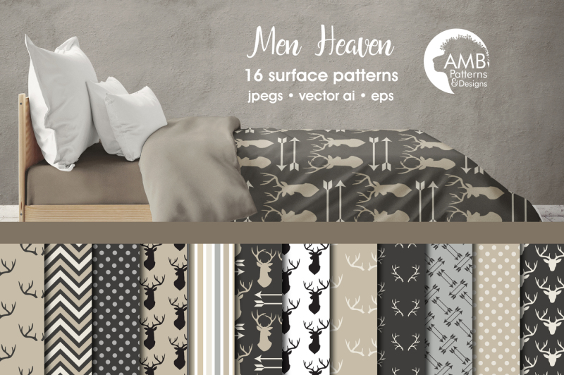 men-heaven-surface-patterns-rustic-antler-papers-amb-1869