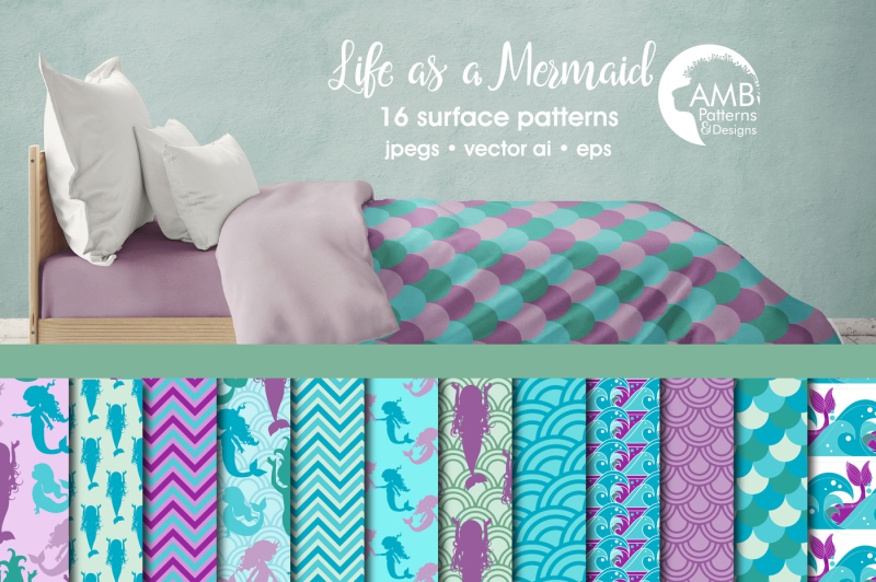 mermaid-surface-patterns-mermaid-papers-amb-1932
