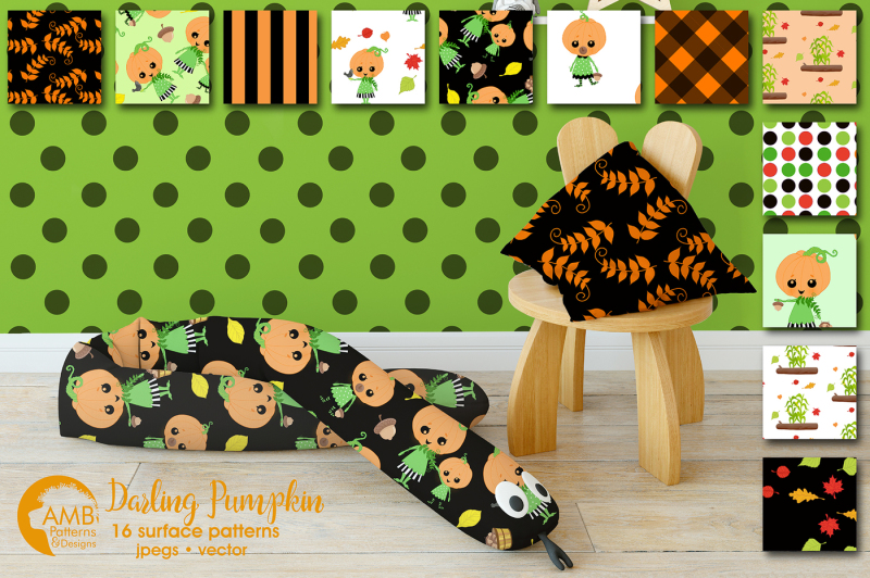 darling-pumpkin-patterns-darling-halloween-papers-amb-2262