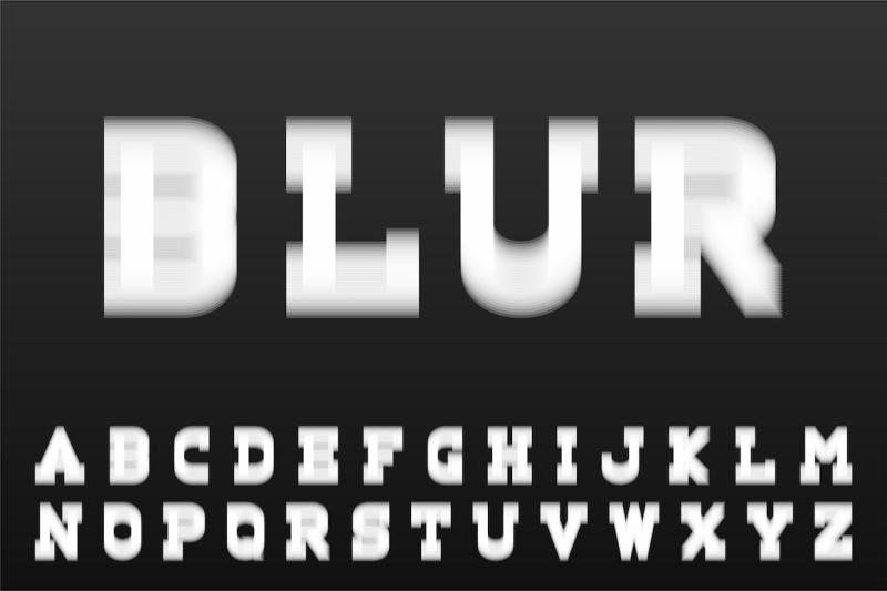 white-latin-letters-blur-font