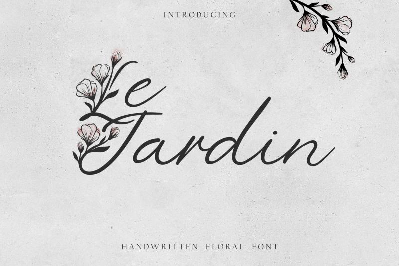 039-le-jardin-039-floral-font