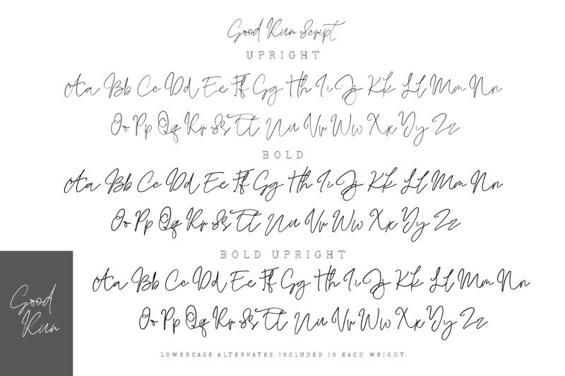 good-run-script-font