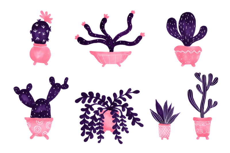 cactuses-hand-painted-collection