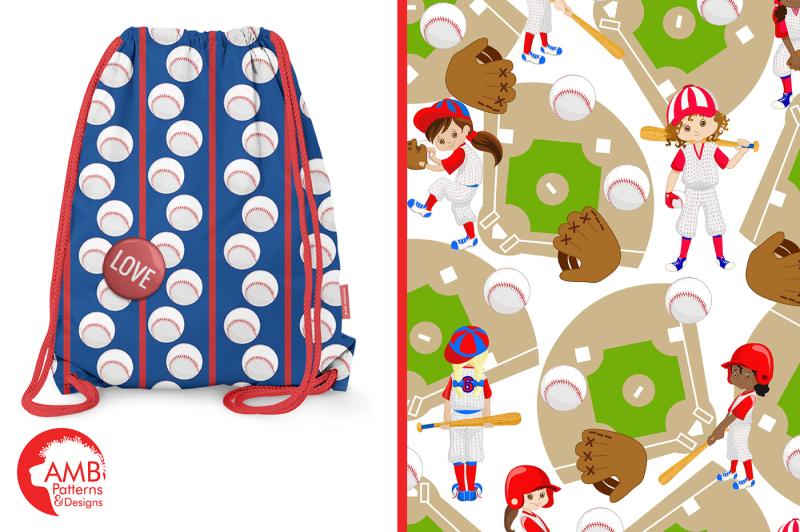 girl-baseball-patterns-baseball-papers-amb-1226