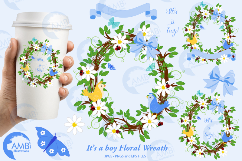it-039-s-a-boy-cliparts-boy-floral-frames-cliparts-amb-1400