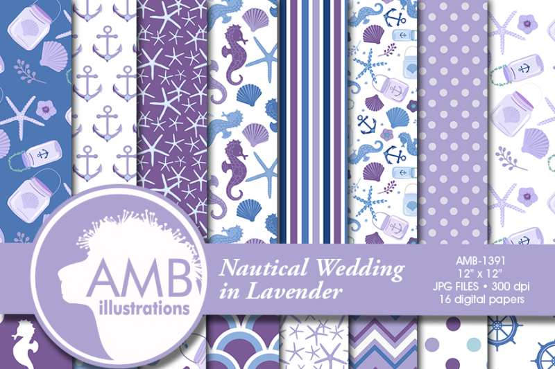 nautical-wedding-patterns-purple-nautical-papers-amb-1391