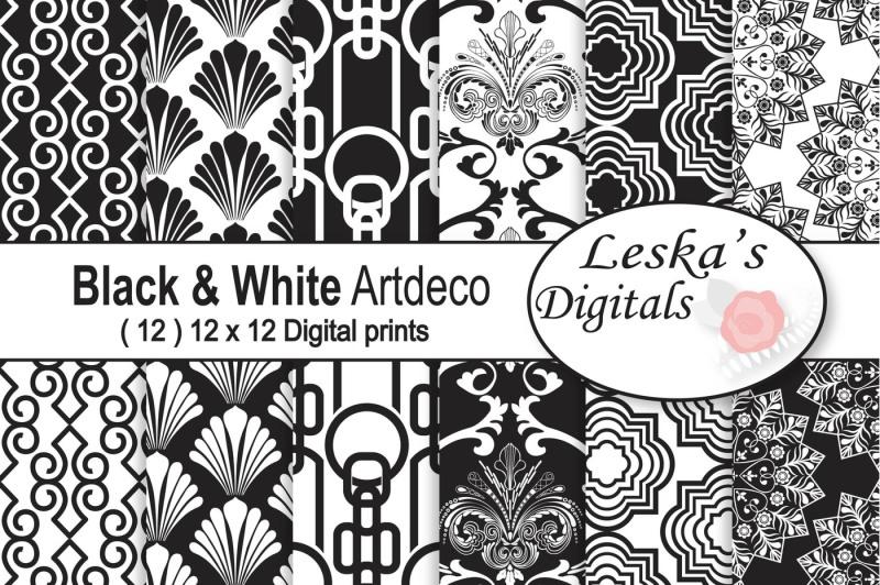 black-and-white-art-deco-digital-paper