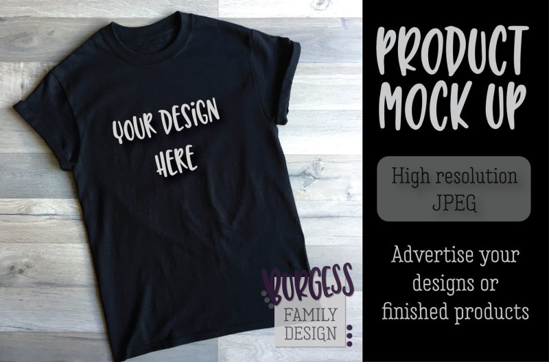 Free MOCK UP | Basic black angled tee (PSD Mockups)