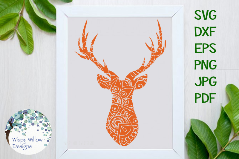 deer-head-buck-zentangle-hunting-animal-cut-file