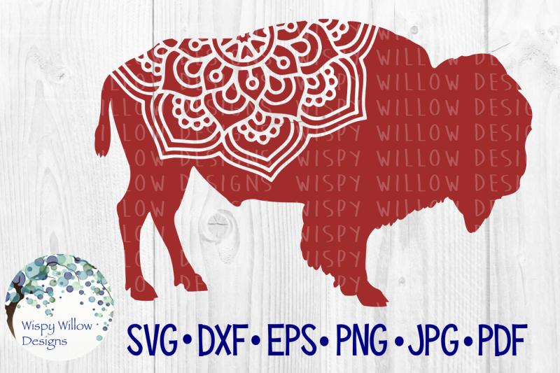 bison-mandala-buffalo-yak-animal-cut-file