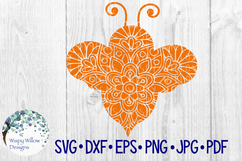 bee-floral-mandala-zentangle-svg-dxf-eps-png-jpg-pdf