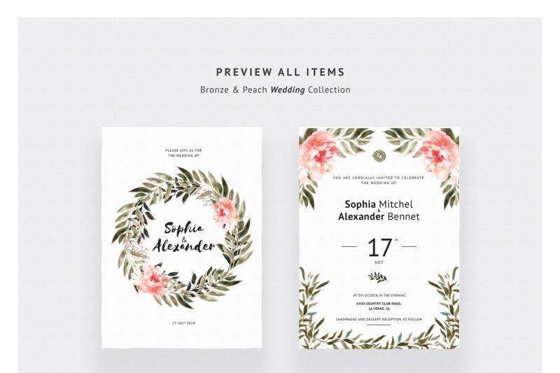 bronze-and-peach-wedding-invitations